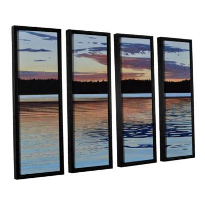 Brushstone Graham Lake 4-pc. Floater Framed CanvasWall Art