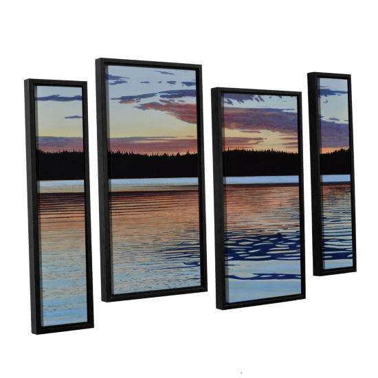 Brushstone Graham Lake 4-pc. Floater Framed Staggered Canvas Wall Art