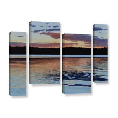 Brushstone Graham Lake 4-pc. Gallery Wrapped Staggered Canvas Wall Art