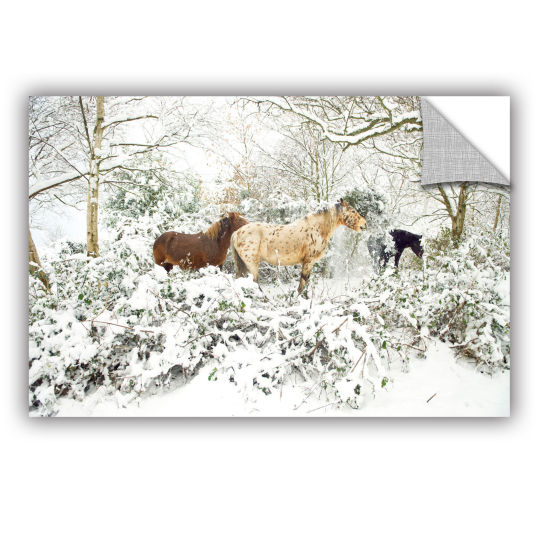 Brushstone Horses In Winter Removable Wall Decal