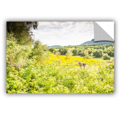 Brushstone Horse In Field 1 Removable Wall Decal