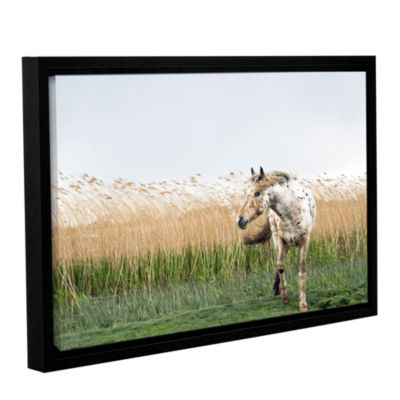 Brushstone Horse And High Grass Gallery Wrapped Floater-Framed Canvas Wall Art