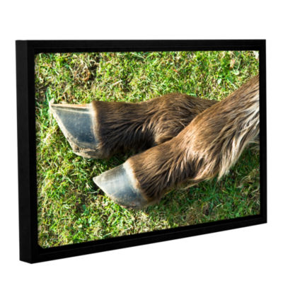 Brushstone Horse Shoes Gallery Wrapped Floater-Framed Canvas Wall Art