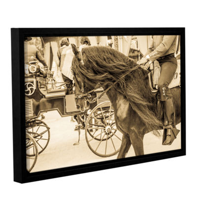 Brushstone Horse And Buggy Gallery Wrapped Floater-Framed Canvas Wall Art