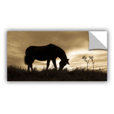 Brushstone Horse Enjoys Evening Removable Wall Decal