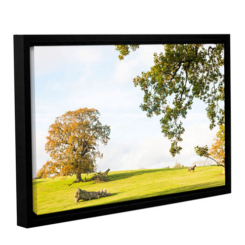 Brushstone Horse With Blanket Gallery Wrapped Floater-Framed Canvas Wall Art