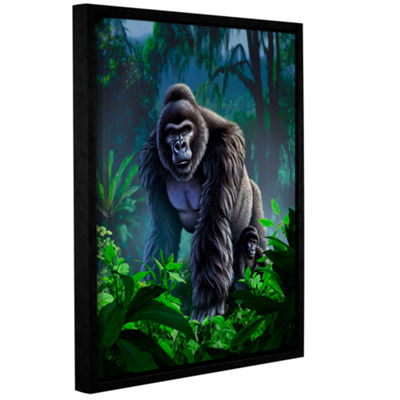 Brushstone Guardian Gallery Wrapped Floater-FramedCanvas Wall Art