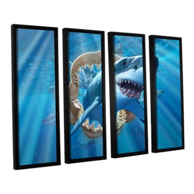 Brushstone Great White Shark 4-pc. Floater FramedCanvas Wall Art