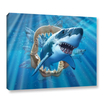 Brushstone Great White Shark Gallery Wrapped Canvas Wall Art