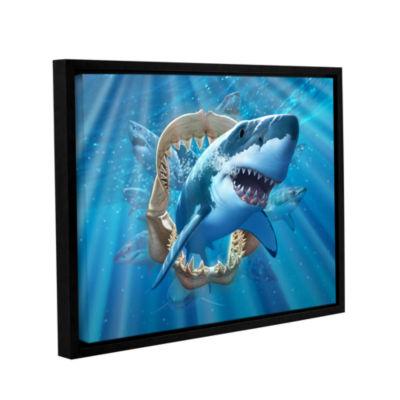 Brushstone Great White Shark Gallery Wrapped Floater-Framed Canvas Wall Art