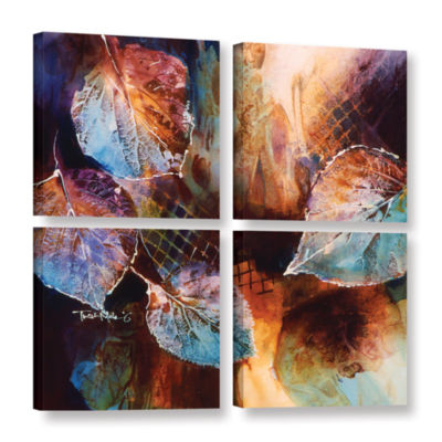 Brushstone Harmony 4-pc. Square Gallery Wrapped Canvas Wall Art