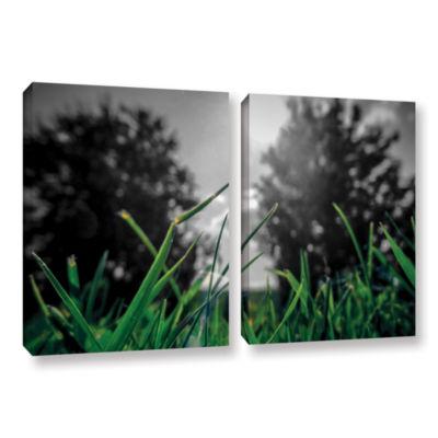 Brushstone Grass 2-pc. Gallery Wrapped Canvas WallArt