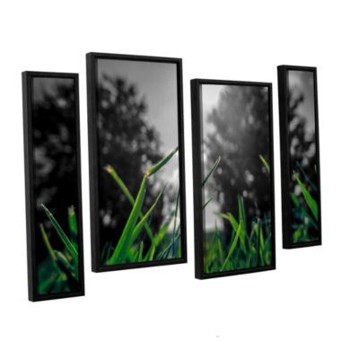 Brushstone Grass 4-pc. Floater Framed Staggered Canvas Wall Art