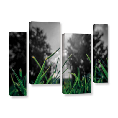 Brushstone Grass 4-pc. Gallery Wrapped Staggered Canvas Wall Art