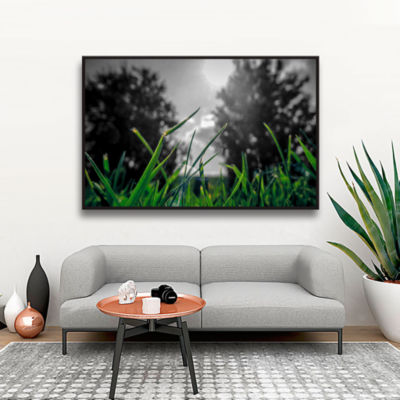 Brushstone Grass Gallery Wrapped Floater-Framed Canvas Wall Art