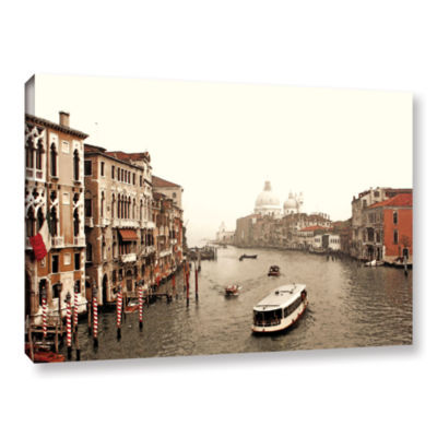Brushstone Grand Canal From Rialto Gallery WrappedCanvas Wall Art