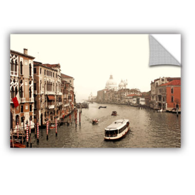 Brushstone Grand Canal From Rialto Removable WallDecal