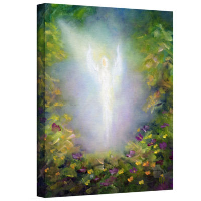 Brushstone Healing Angel I (Flowers) Gallery Wrapped Canvas Wall Art