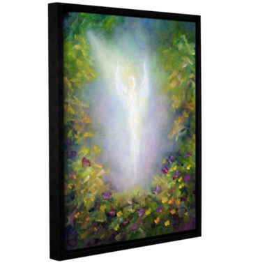 Brushstone Healing Angel I (Flowers) Gallery Wrapped Floater-Framed Canvas Wall Art