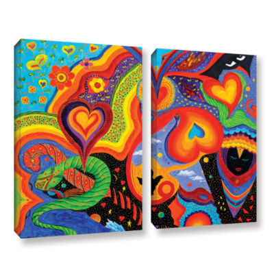 Brushstone Hearts 2-pc. Gallery Wrapped Canvas Wall Art