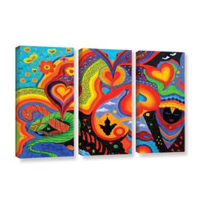 Brushstone Hearts 3-pc. Gallery Wrapped Canvas Wall Art
