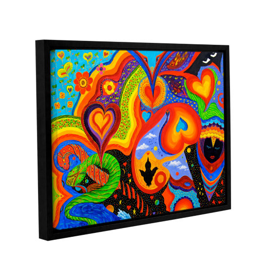 Brushstone Hearts Gallery Wrapped Floater-Framed Canvas Wall Art