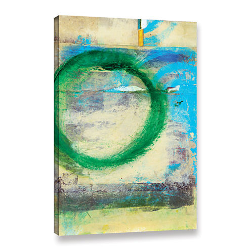 Brushstone Green Circle Gallery Wrapped Canvas Wall Art