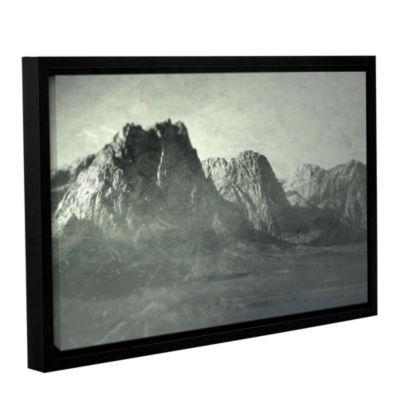 Brushstone Habits I Gallery Wrapped Floater-FramedCanvas Wall Art
