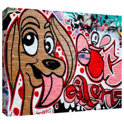 Brushstone Graff Dog2 Gallery Wrapped Canvas WallArt