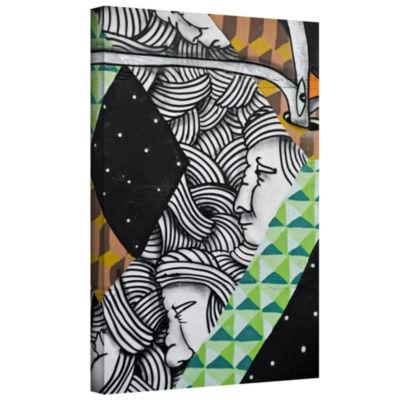 Brushstone Graff1 Gallery Wrapped Canvas Wall Art