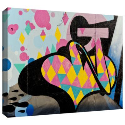 Brushstone Graff2 Gallery Wrapped Canvas Wall Art