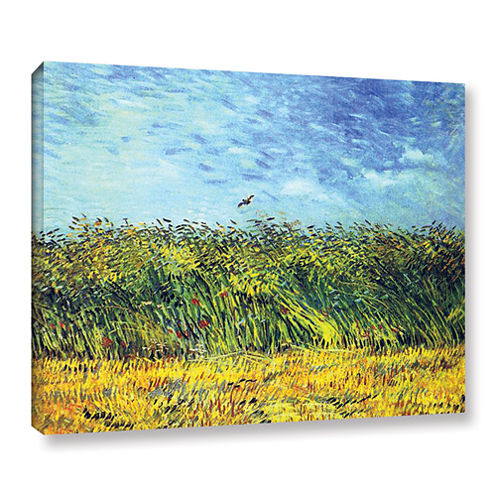 Brushstone Green Wheatfields Gallery Wrapped Canvas Wall Art