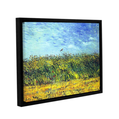 Brushstone Green Wheatfields Gallery Wrapped Floater-Framed Canvas Wall Art