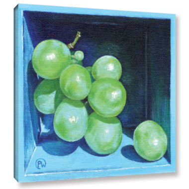 Brushstone Green Grapes Gallery Wrapped Canvas Wall Art