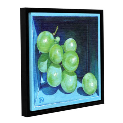 Brushstone Green Grapes Gallery Wrapped Floater-Framed Canvas Wall Art