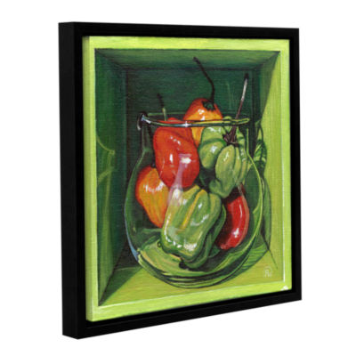 Brushstone Habanero Gallery Wrapped Floater-FramedCanvas Wall Art
