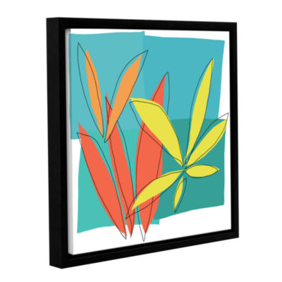 Brushstone Grasses I Gallery Wrapped Floater-Framed Canvas Wall Art