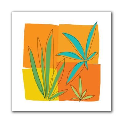 Brushstone Grasses II Canvas Wall Art