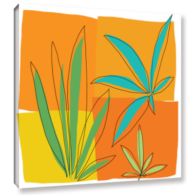 Brushstone Grasses II Gallery Wrapped Canvas WallArt