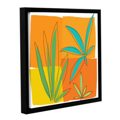 Brushstone Grasses II Gallery Wrapped Floater-Framed Canvas Wall Art