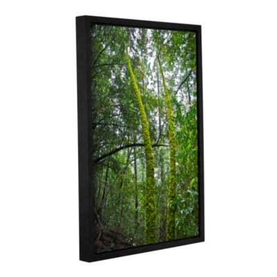 Brushstone Green Trees Gallery Wrapped Floater-Framed Canvas Wall Art