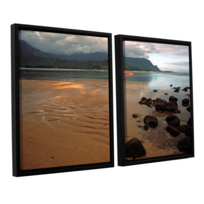 Brushstone Hanalei Bay At Dawn 2-pc. Floater Framed Canvas Wall Art