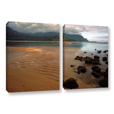 Brushstone Hanalei Bay At Dawn 2-pc. Gallery Wrapped Canvas Wall Art