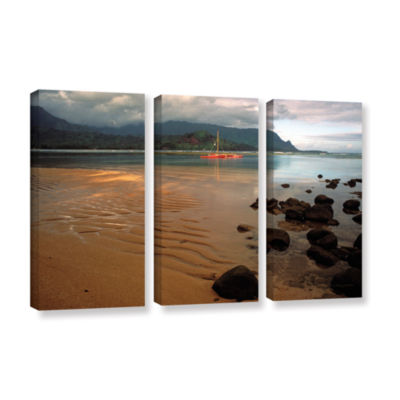 Brushstone Hanalei Bay At Dawn 3-pc. Gallery Wrapped Canvas Wall Art