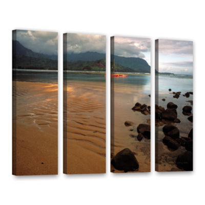 Brushstone Hanalei Bay At Dawn 4-pc. Gallery Wrapped Canvas Wall Art