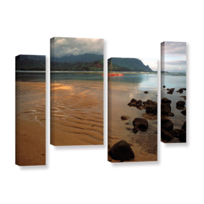 Brushstone Hanalei Bay At Dawn 4-pc. Gallery Wrapped Staggered Canvas Wall Art