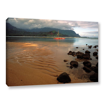 Brushstone Hanalei Bay At Dawn Gallery Wrapped Canvas Wall Art