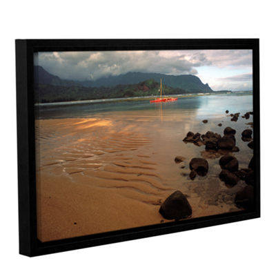 Brushstone Hanalei Bay At Dawn Gallery Wrapped Floater-Framed Canvas Wall Art