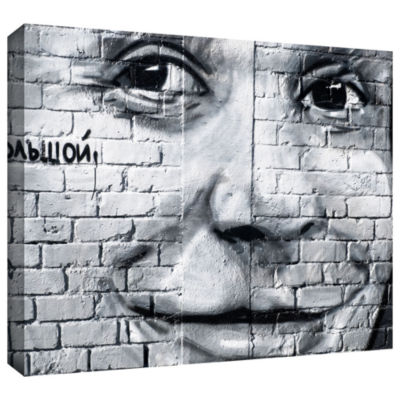Brushstone Graffiti Smile 3 Gallery Wrapped CanvasWall Art