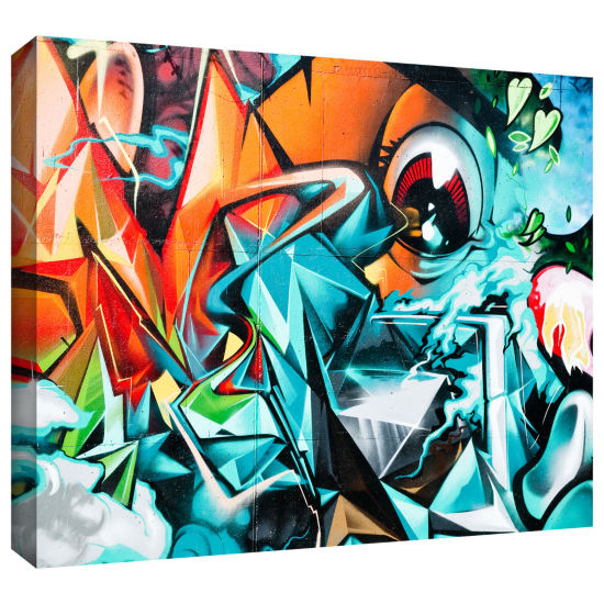Brushstone Grafit 17!!! Gallery Wrapped Canvas Wall Art